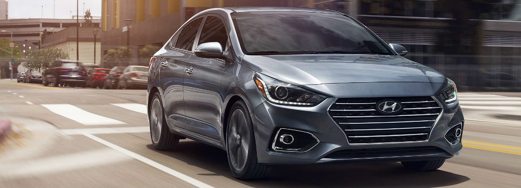 2018 Hyundai Accent driving on a road