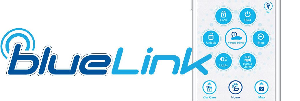 Blue Link Connected Car Services Logo and App