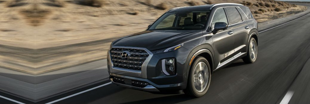 2020 Hyundai Palisade Exterior Driver Side Front Profile in Motion