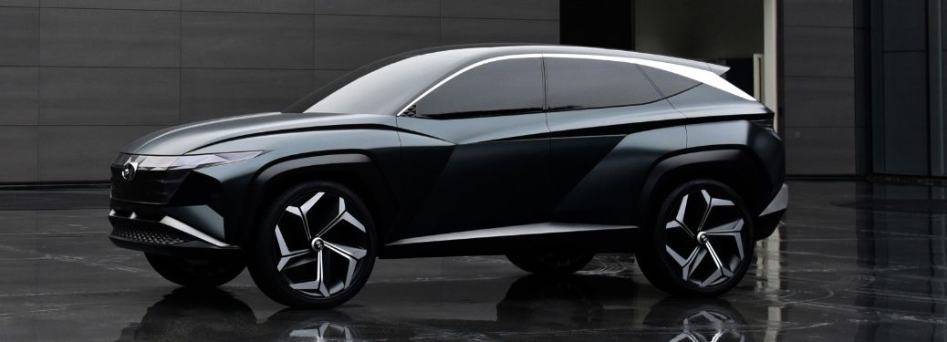 Front driver angle of the Hyundai Vision T concept