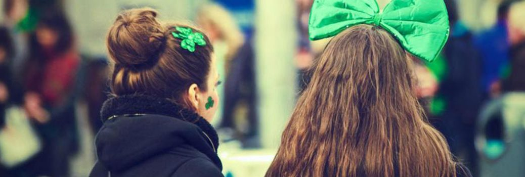 Girls Dressed for St. Patrick's Day