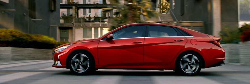 2021 Hyundai Elantra Exterior Driver Side Profile from Commercial