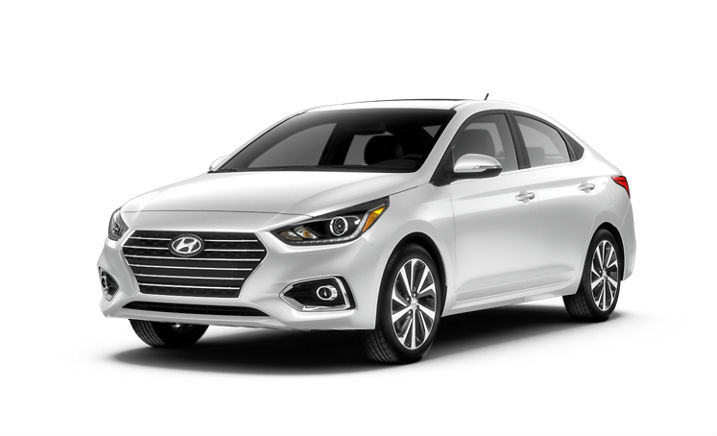 2020 Hyundai Accent in Frost White Pearl