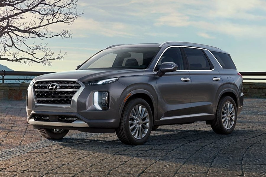 Steel Graphite 2020 Hyundai Palisade on Brick Road