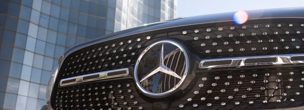 Front grille of a Mercedes-Benz