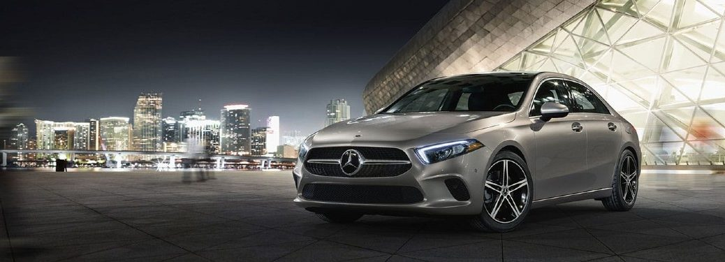 2021 Mercedes-Benz A-Class in front of city