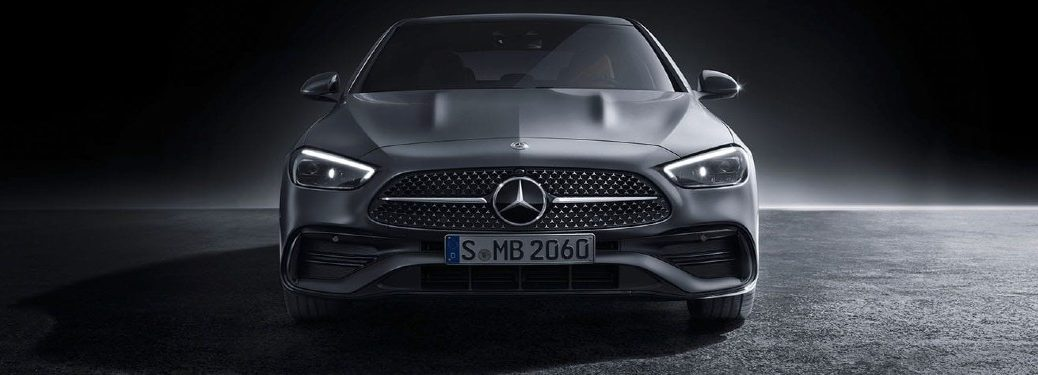 European model of the 2022 Mercedes-Benz C-Class shown from front