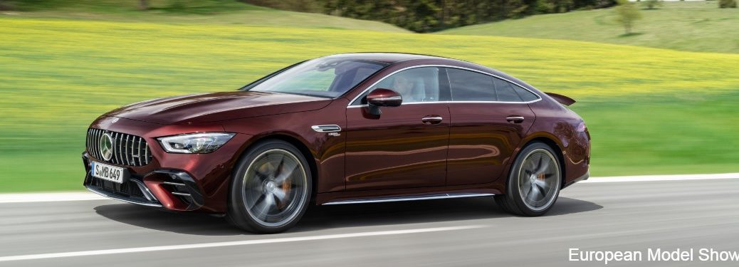 2022 Mercedes-AMG GT 4-door coupe from side