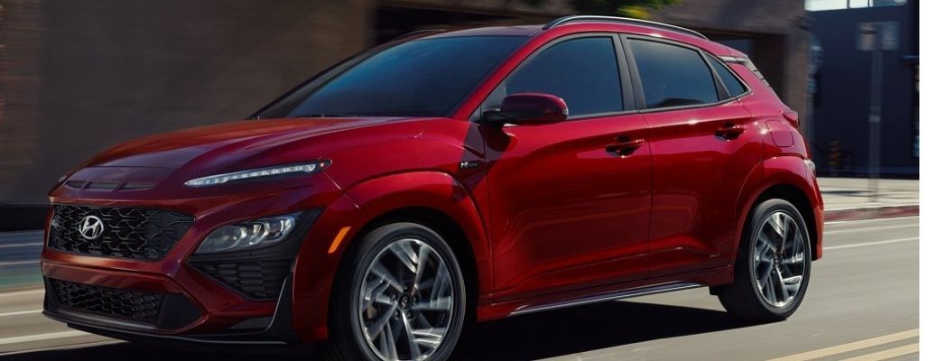 front quarter and side view of the 2022 Kona