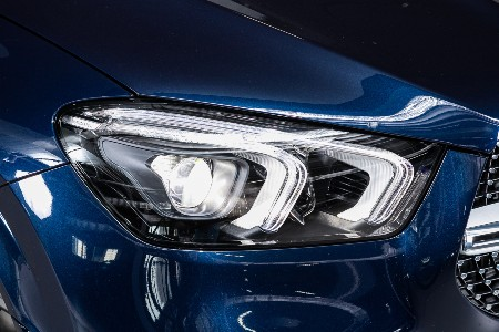 Close up of an LED headlight