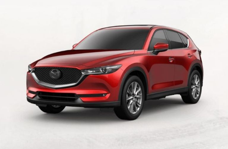 Exterior view of a red 2019 Mazda CX-5 Grand Touring Reserve