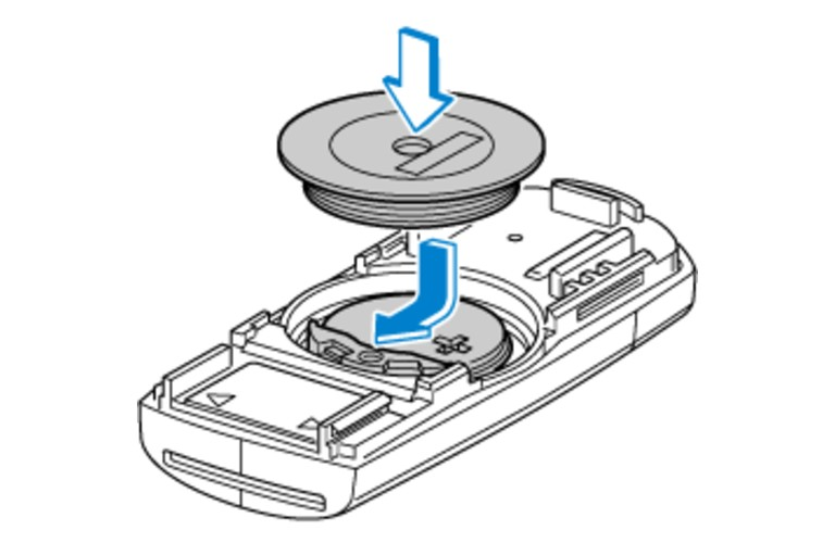 An image of the fourth step in the process on how to replace a Mazda key fob battery.