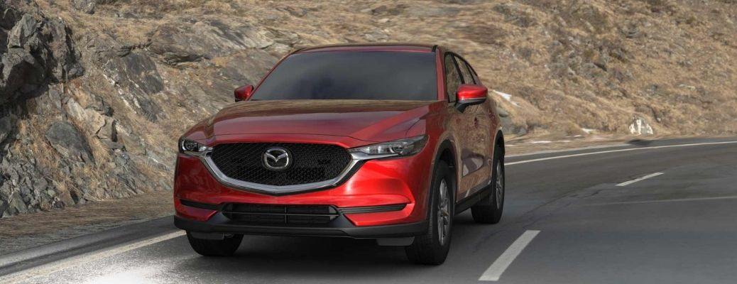 2021 Mazda CX-5 driving front view