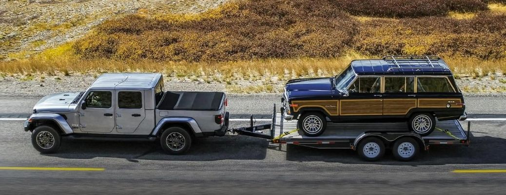 2021 Jeep Gladiator Towing a Vehicle