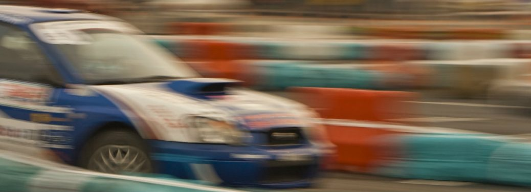 blurred image of race car