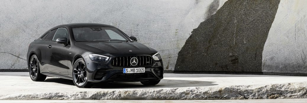 2021 Mercedes-AMG E 53 Coupe Exterior Passenger side Front Angle