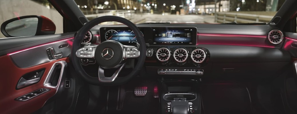 Mercedes-Benz A-Class Sedan Interior red with MBUX