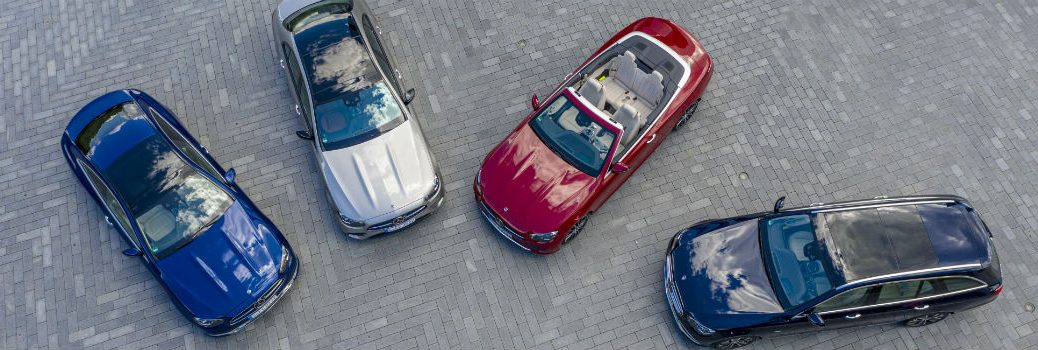 2021 Mercedes-Benz E-Class Family Lineup from Above