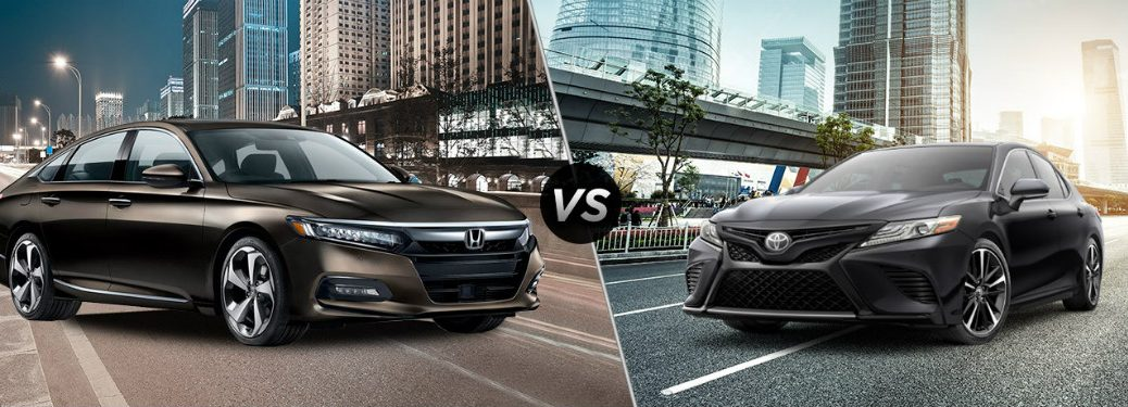 2018 Honda Accord Touring 2.0T vs 2018 Toyota Camry XSE V6 side by side