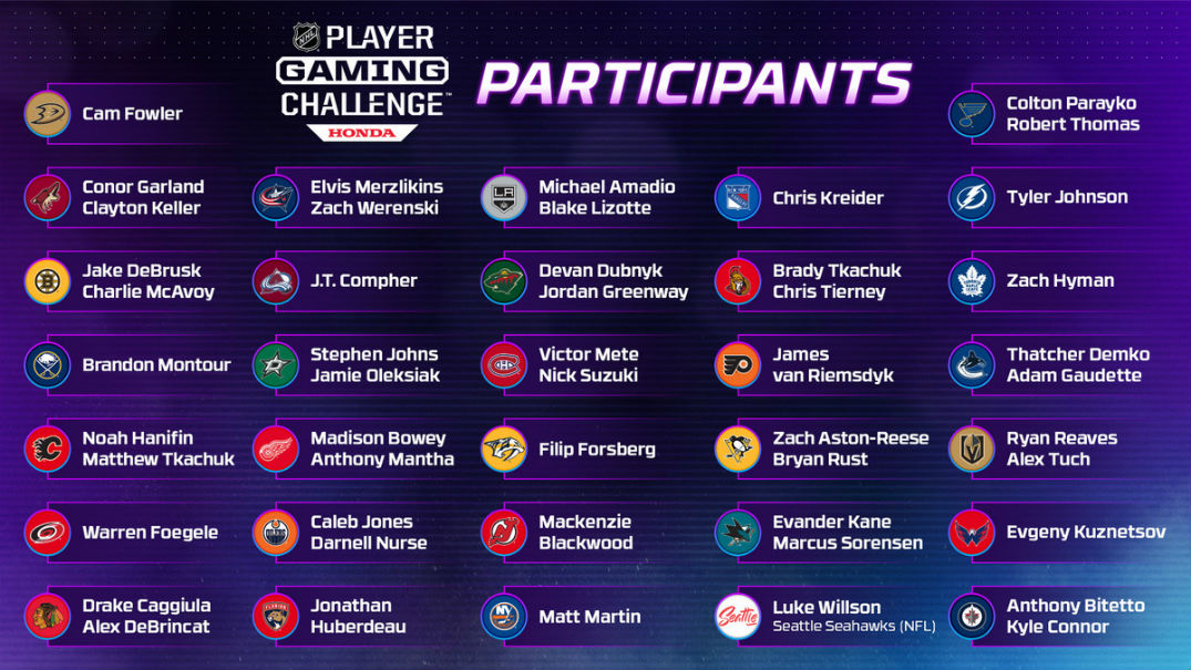 Watch the NHL Player Gaming Challenge Presented by Honda Online