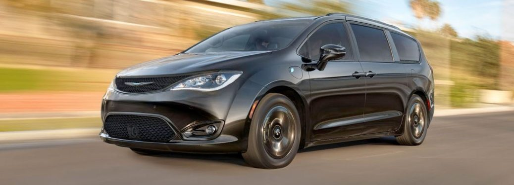 2020 Chrysler Pacifica going down the road