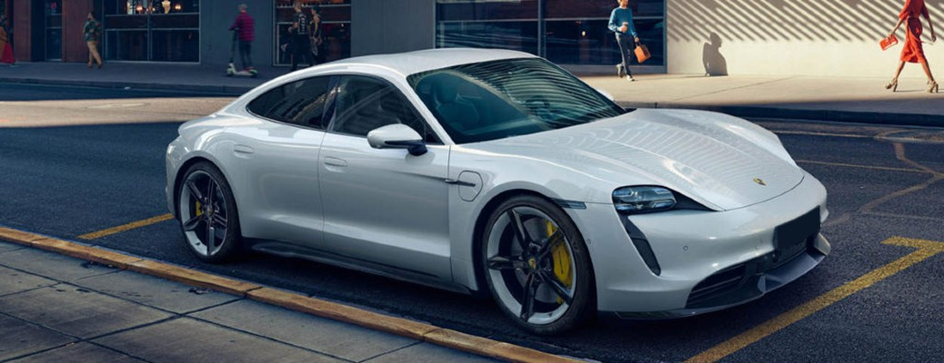 2020 Porche Taycan in parking lot