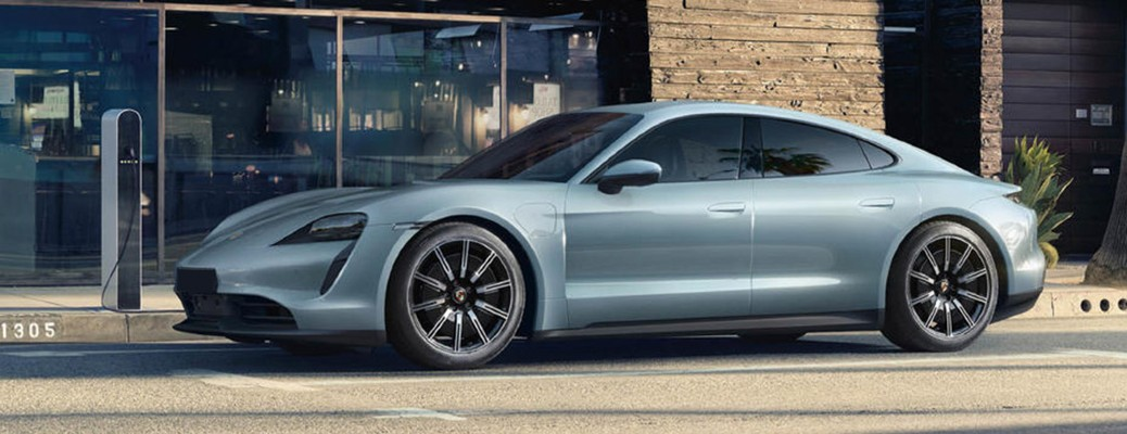 side view of the 2020 Porsche Taycan