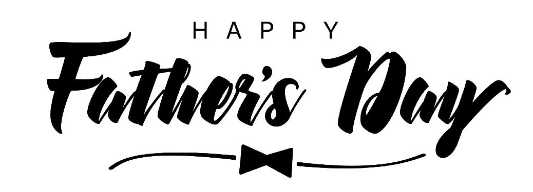 Happy Father's Day banner with a bowtie graphic underneath