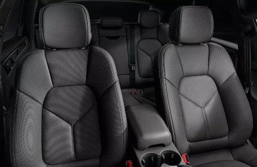 2021 Porsche Macan interior front and second row seats