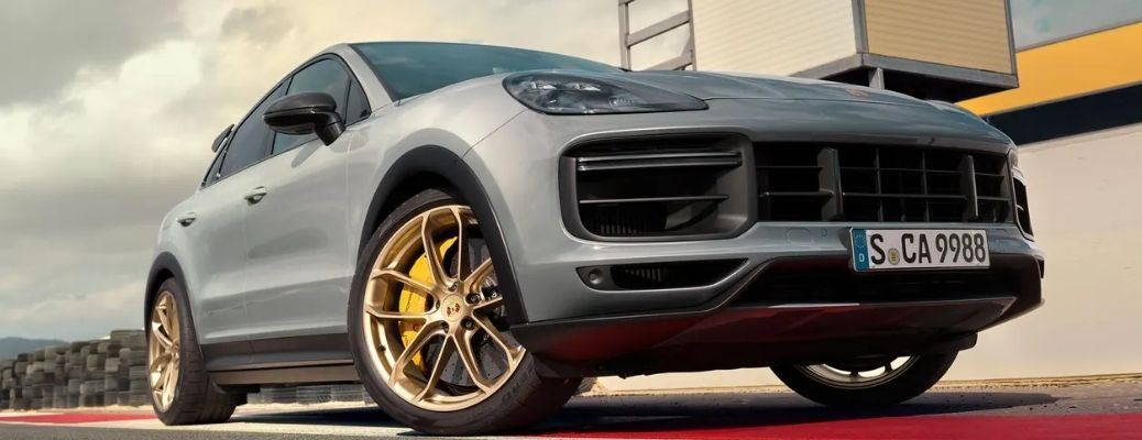 2022 Porsche Cayenne parked on a road. WHat are the safety features?