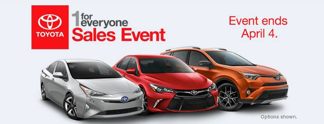 1 for everyone savings event at Serra Toyota