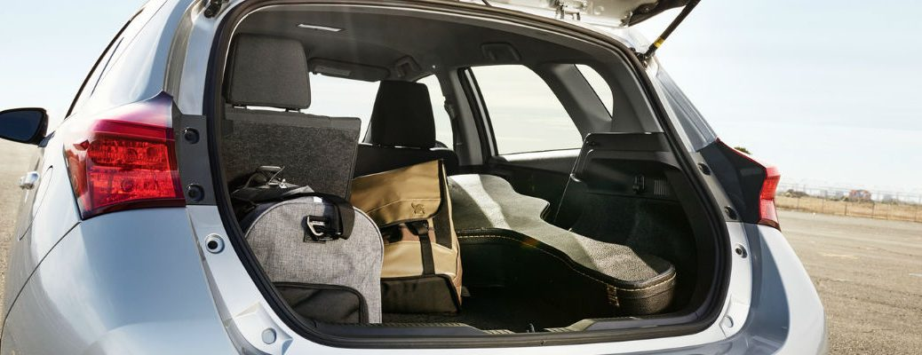 2018 Toyota Corolla iM cargo space as shown with fifth door open