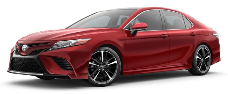 2019 Toyota Camry in Supersonic Red