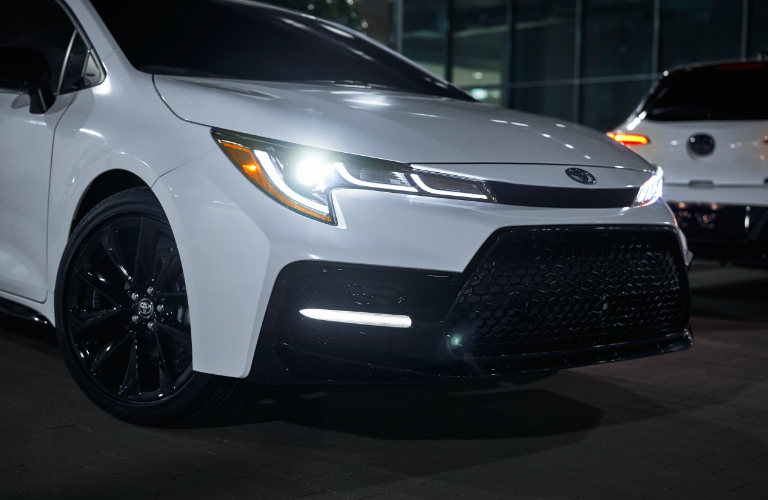 2020 Toyota Corolla Nightshade Edition front grille and headlights