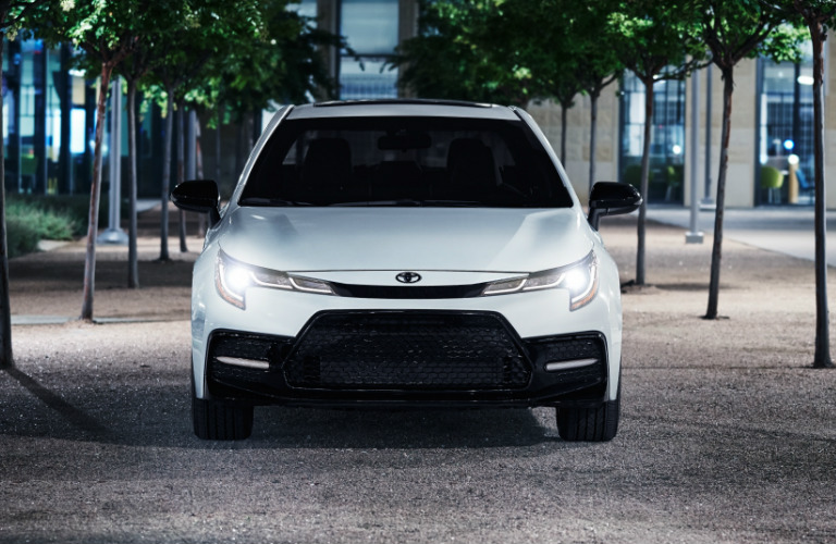 2020 Toyota Corolla Hatchback Nightshade Edition grille and headlights