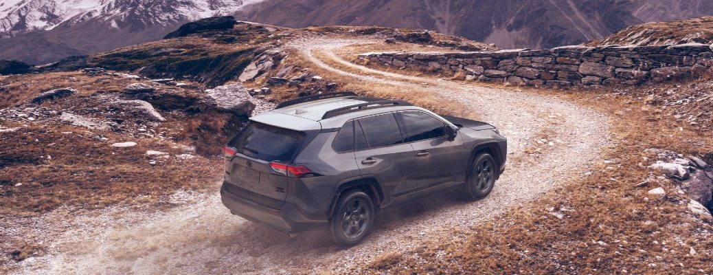 A photo of the 2020 Toyota RAV4 on a dirt road.