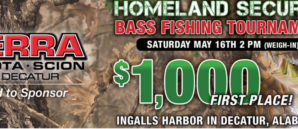 Homeland Security Bass Fishing Tournament in Decatur AL