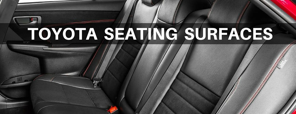 Toyota seating surfaces