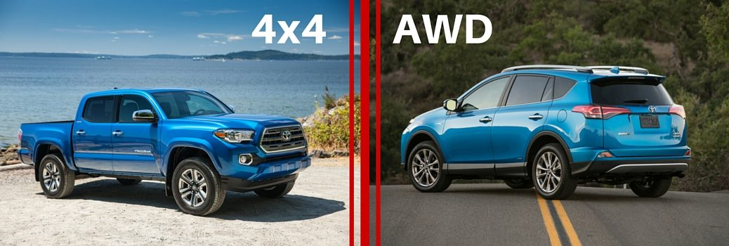 Toyota AWD vs 4WD vehicles