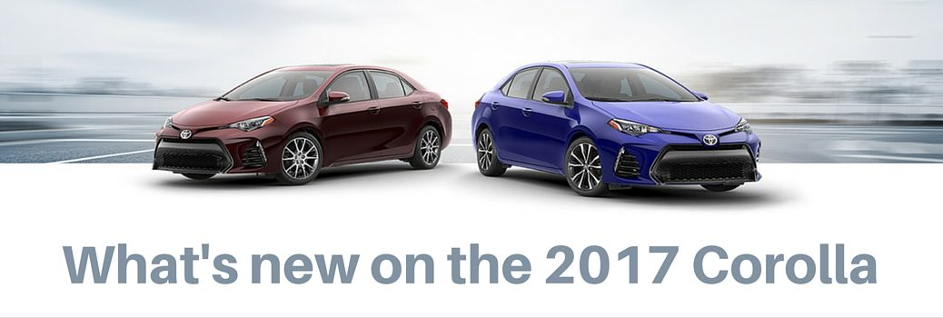 New features on the 2017 Corolla