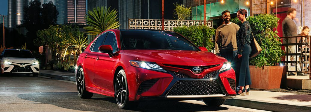 2018 Toyota Camry in Red Exterior View