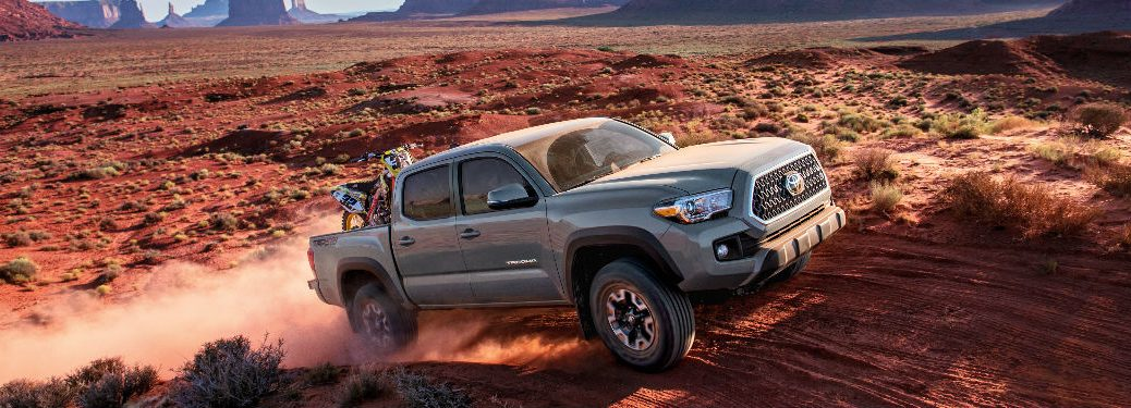 2018 Toyota Tacoma Driving Down Dirt Road Gray Exterior