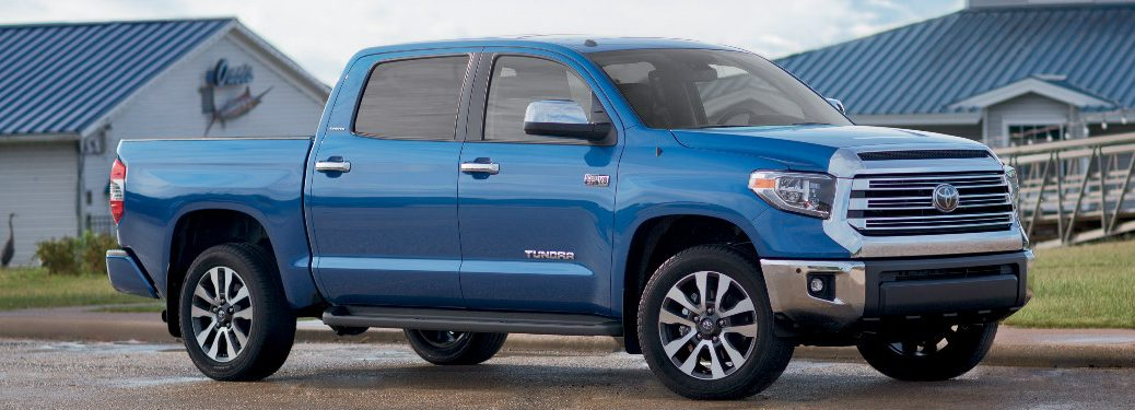 side view of 2018 Toyota Tundra Limited parked on a ranch
