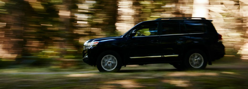 2018 Toyota Land Cruiser driving down forest road