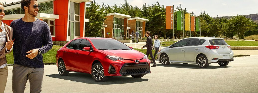 Exterior View of 2018 Toyota Corolla in Red