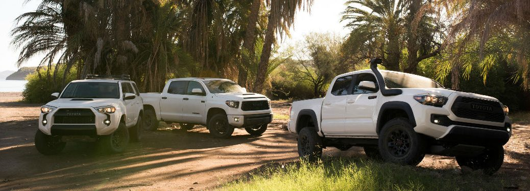 2019 Toyota 4Runner, Tundra and Tacoma TRD Pro Exterior Views in White