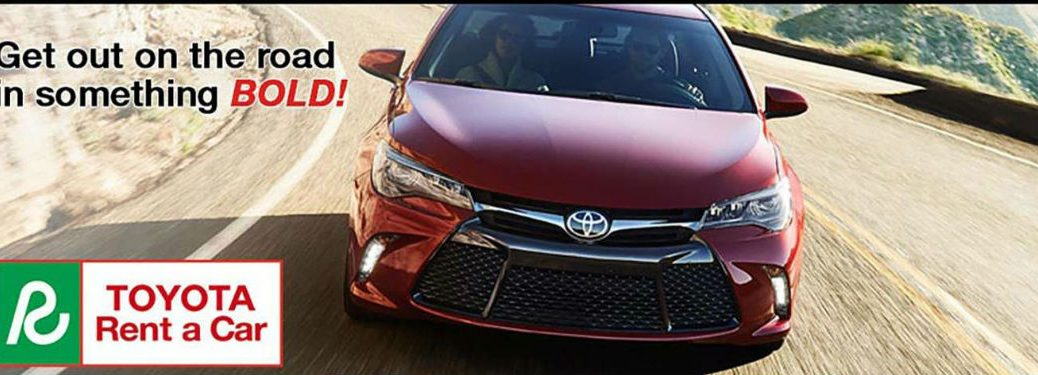 Get out on the road in something BOLD! Toyota Rent a Car with Camry in Red
