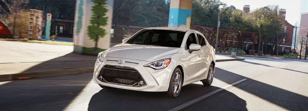 2019 Toyota Yaris Exterior View in White Coloring