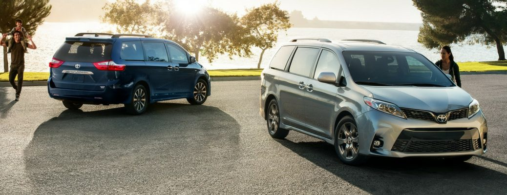 2018 Toyota Sienna in Silver and Blue Exterior Paint Colors