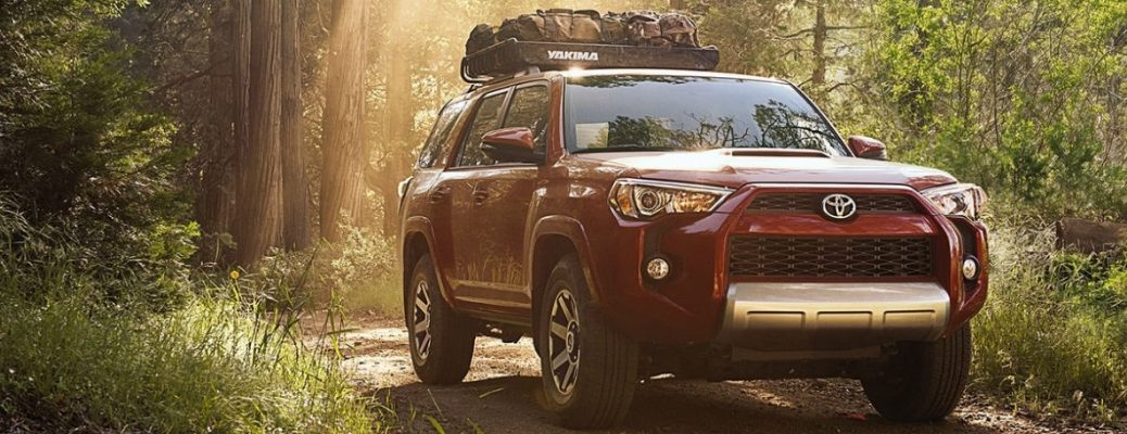 2018 Toyota 4Runner Front View of Red Exterior